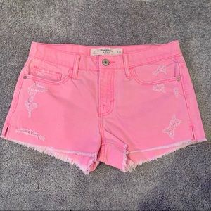 Abercrombie & Fitch | Neon Pink Denim Shorts